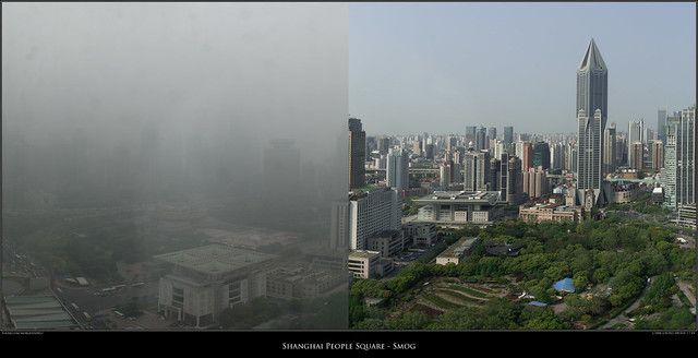 Shanghai People Square - Smog
