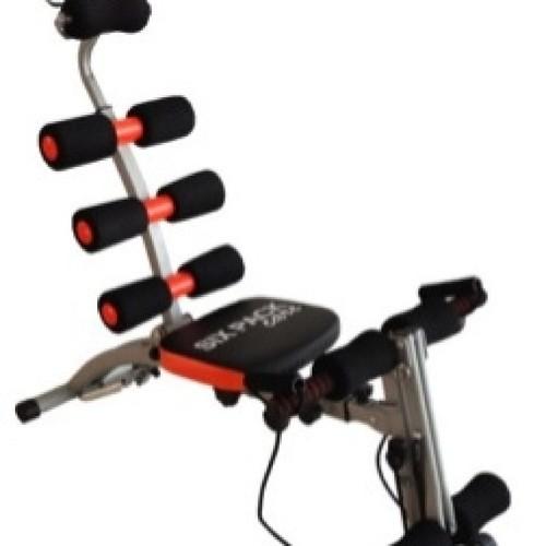 جهاز سكس باك كير أحدث الأجهزة الرياضية مخصص لتقويه عضلات البطن العلويه -السفليه -الجانبيه والمنحرفه (شدها ونحتها)/ تنحيف وتمرين الزنود(الاكتاف)  وشد عضلات الساعد والباي سيبس/ تقويه وشد عضلات الرجلين والفخذين - متعدد الاستخدامات / مع دعاميات الظهر والرقبه