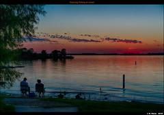 Enjoying Fishing at sunset
