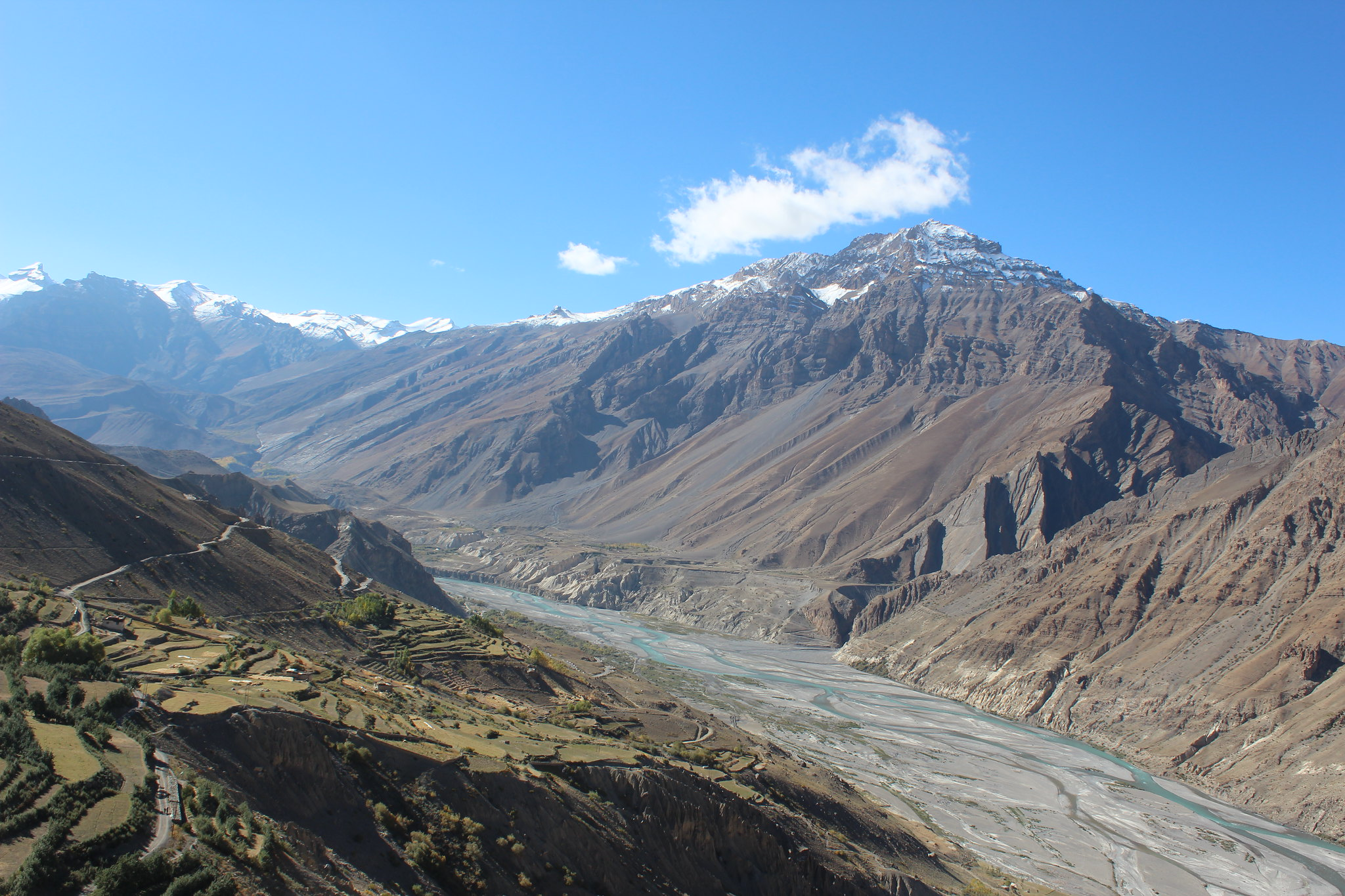 Spiti river from Dhankar Monastery