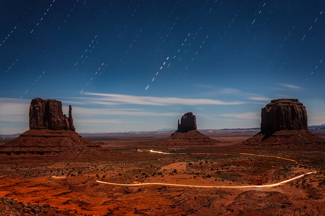 Night time at Monument Valley