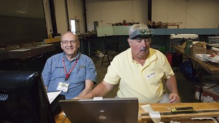 The North Raleigh Model Railroad Club Participated in the Great Train Show - September 17-18, 2016. John & Jim do a bit of troubleshooting