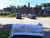 Historic Bellows Falls, sketching the Canal