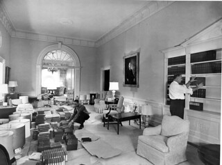 Northwest View of Second Floor Corridor of White House during the Renovation, 03/24/1952