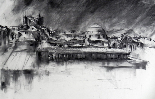 On the roof of the city (9) by Behzad Bagheri Sketches