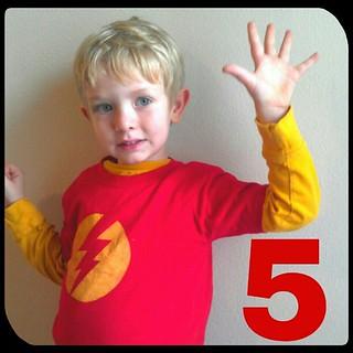 Happy birthday, Thomas! #wholehand #five