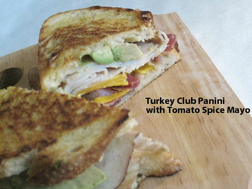 Turkey Club Panini with Tomato Spice Mayo