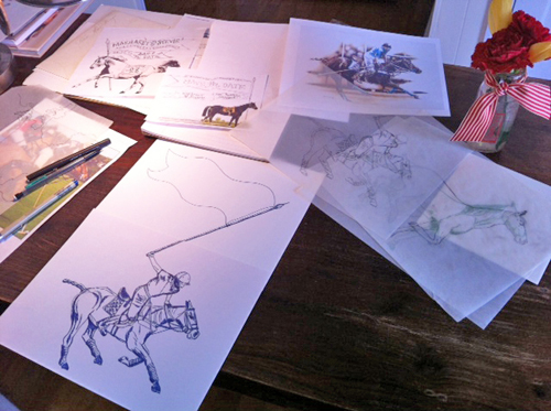 horse-sketches