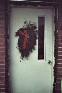 Kansas   -   Ft. Leavenworth   -   CGSC   -   246 Hancock   -   Our Christmas Door   -   December 1980