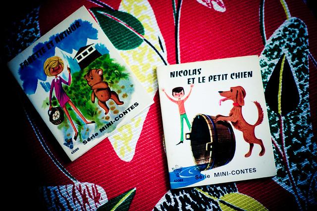 mini livres vintage