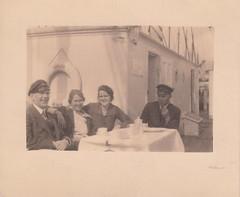 Tea-time on the brig 'Tjalfe', clubhouse of the Kjøbenhavns Amatør-Sejlklub, Copenhagen (1916-1950)