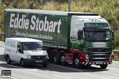 Volvo FH 6x2 Tractor - PX61 BGU - Lauren Chelsea - Eddie Stobart - M1 J10 Luton - Steven Gray - IMG_8883