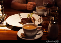 Desert on NYE in Amsterdam.  Coffee, a glass of Frangelico and that chocolate thing that gave me an out of body experience when I was eating it :-)