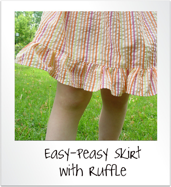 easy peasy skirts with ruffle