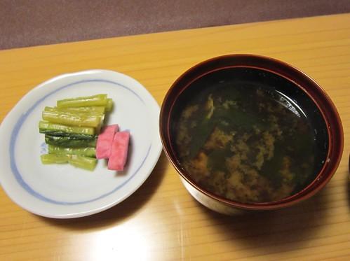 赤出汁とお新香 2013年㋁19日 by Poran111
