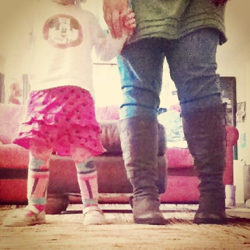 new rug + timer app + her joy + these boots over jeans #beautyinthismoment