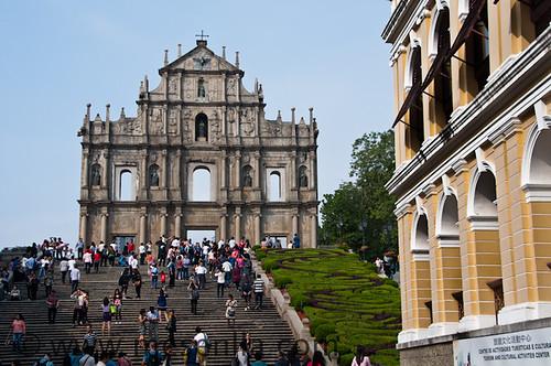 Fachada de la iglesia de San Pablo en Macao