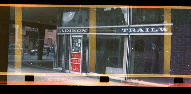 Adirondack Trailways bus station with Instamatic Sprocket Holes