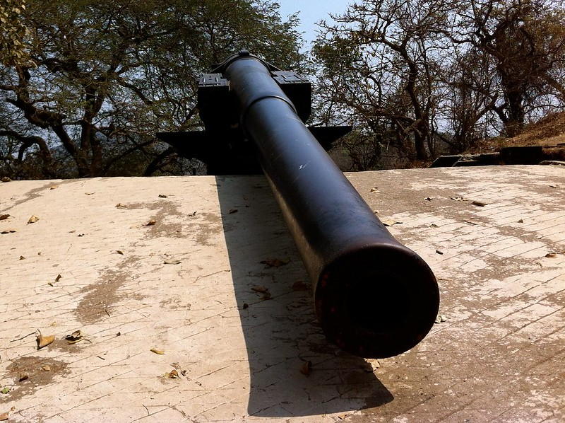Cannon no 1 at Elephanta
