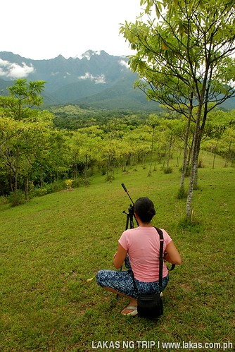 Dazl taking a photo of Mount Guiting-Guiting