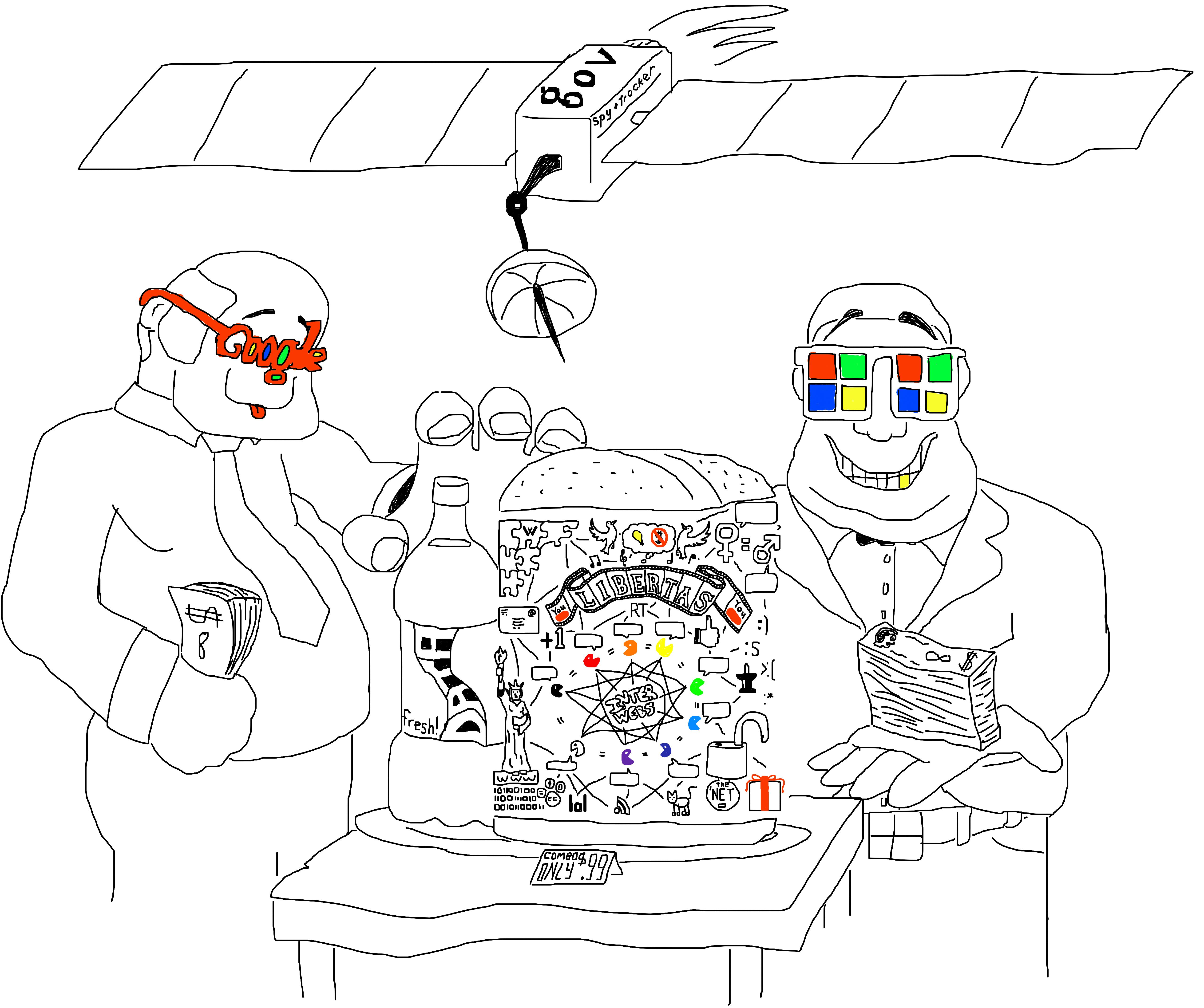 doodle, big brother, internet,