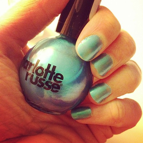 Day58 turquoise nails 2.27.13 #jessie365