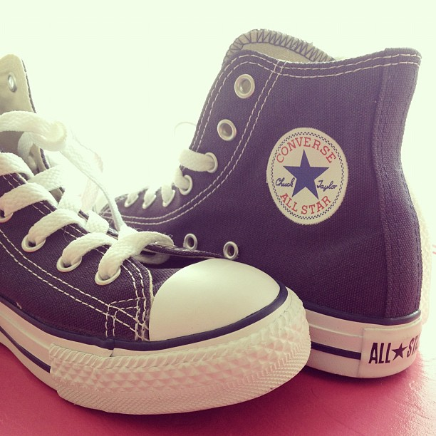 Day59 Bought my first pair of hightop Converse! Pretty excited! Only $6 on clearance! 2.28.13 #jessie365 #converse
