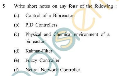 UPTU B.Tech Question Papers -BT-605 - Bioreactor Analysis & Design