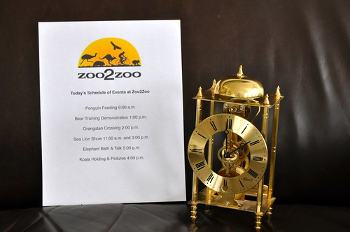 Zoo Schedule Events Clock