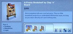 A-Frame Bookshelf by Clap 'n' Board