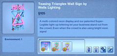 Teasing Triangles Wall Sign by Wells Lighting