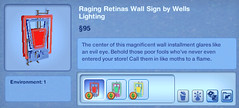 Raging Retinas Wall Sign by Wells Lighting