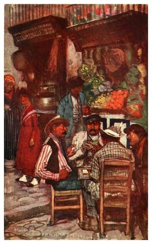 016-Jugadores de cartas en Napoles-Naples  past and present-1905-Maurice Grieffenhagen