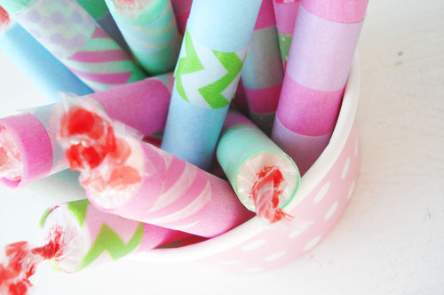 Washi Wrapped Candies