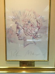 Peter Max Peace Dollar drawing