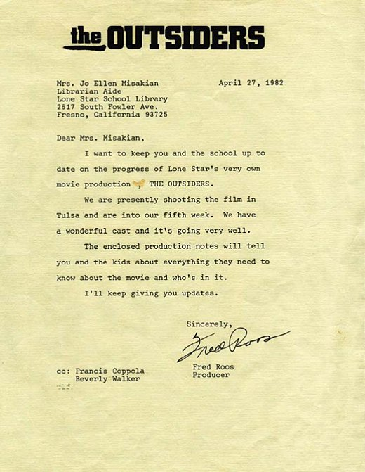 Letters of Note The Outsiders