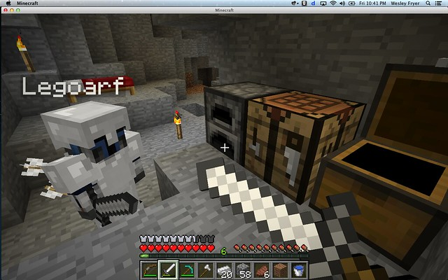 Furnace, Crafting Table and Chest