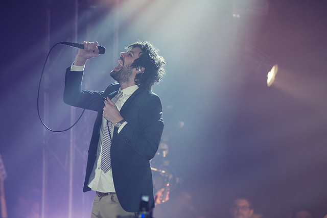 Michael Angelakos of Passion Pit at the Hype Hotel