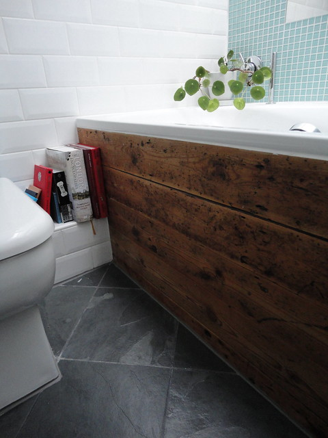 Bath Panel Made From Reclaimed Scaffold Boards And