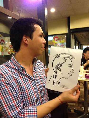 caricature live sketching for birthday party - 4
