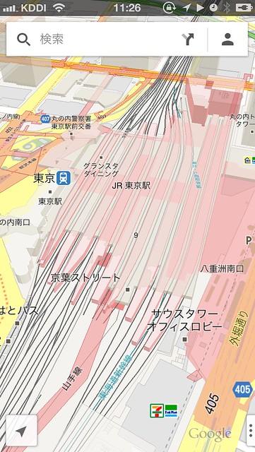 東京駅立体Google