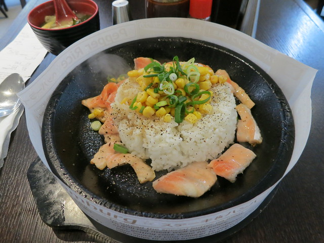 Pepper Lunch: Pepper Rice with Salmon