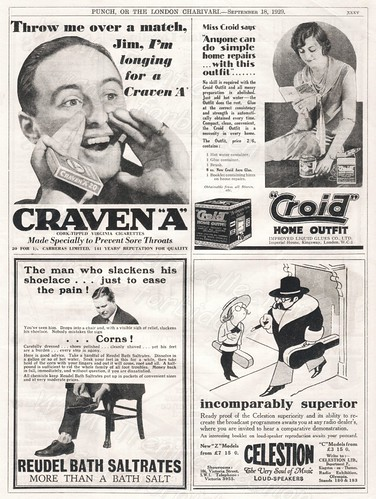 1929 British advertisements.