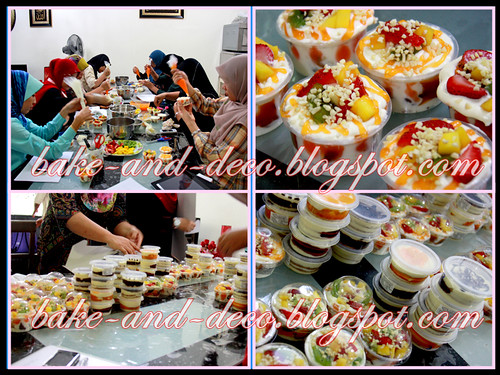 Baking & Deco Class: Lapis Cheezy & Tutty Fruity Cream Dessert ~ 12 August 2012