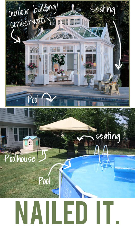 Small patio decorating ideas by kelly of view along the way - Pool ideas on a budget ...