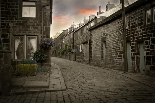 street uk england west canon village yorkshire lancashire cobble heptonstall 400d