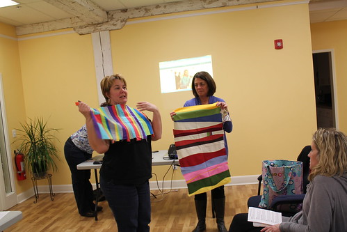Ellen and Teresa share about their blocks made in Valori Wells' class at QuiltCon