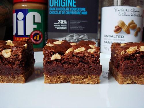 Double Decker Peanut Butter Brownie