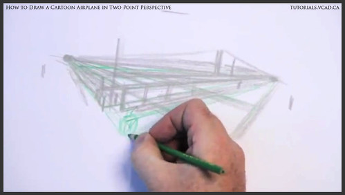 learn how to draw a cartoon airplane in two point perspective 008