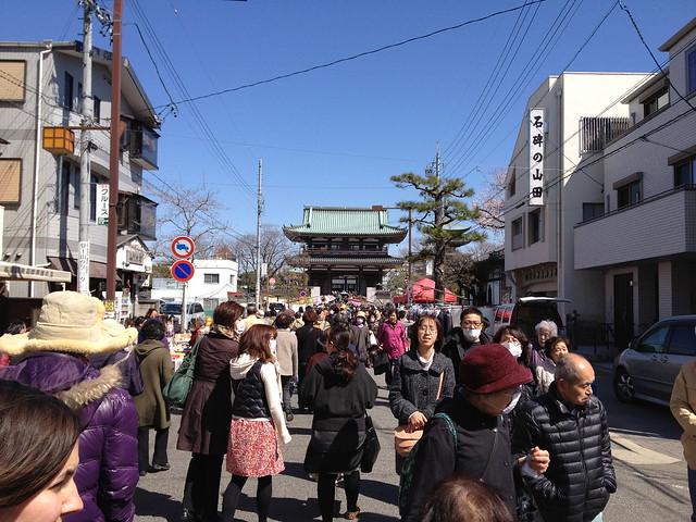 visit to kakuozan nittaiji temple market